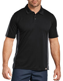 Industrial Color Block Performance Polo - BLACK/CHARCOAL (BKCH)