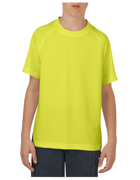 Boys' Short Sleeve Performance Tee, 8-20 - NEON YELLOW (EW)