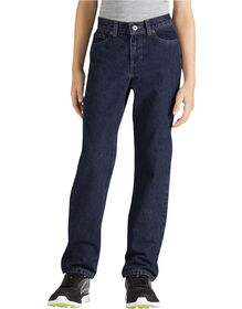 Boys' Slim Fit Straight Leg 6-Pocket Denim Jean, 8-20 - RINSED INDIGO BLUE (RNB)