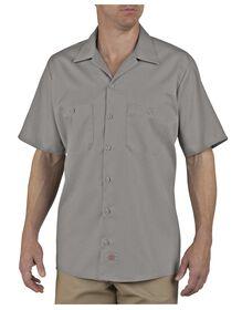 Industrial Patterned Short Sleeve Shirt - SILVER (SV)