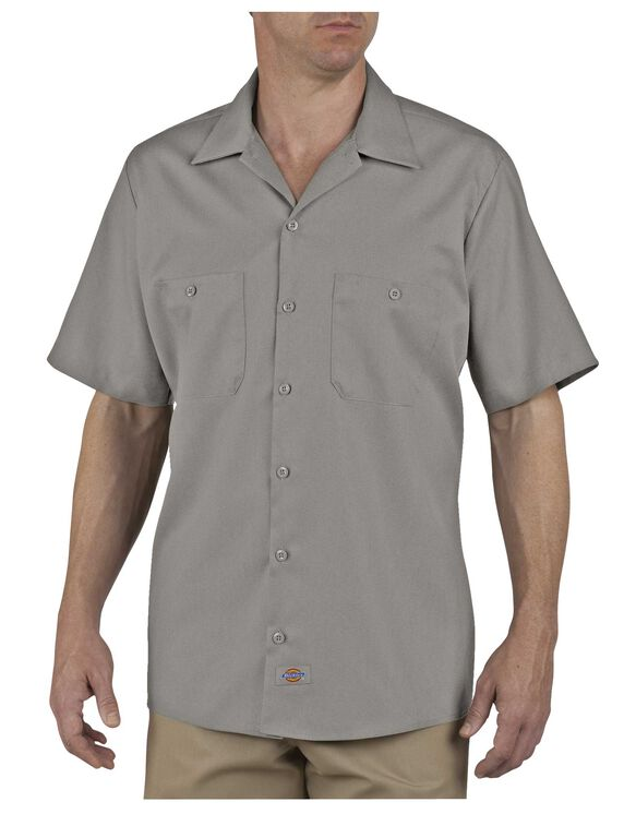 Industrial Patterned Short Sleeve Shirt - SILVER (SV)