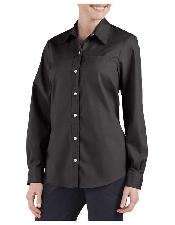 Women's Long Sleeve Stretch Poplin Shirt