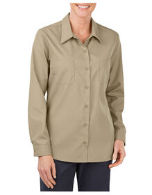 Women's Industrial Long Sleeve Work Shirt - DESERT SAND (DS)