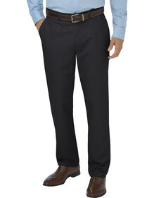 Dickies KHAKI Relaxed Fit Tapered Leg Flat Front Pant - RINSED BLACK (RBK)