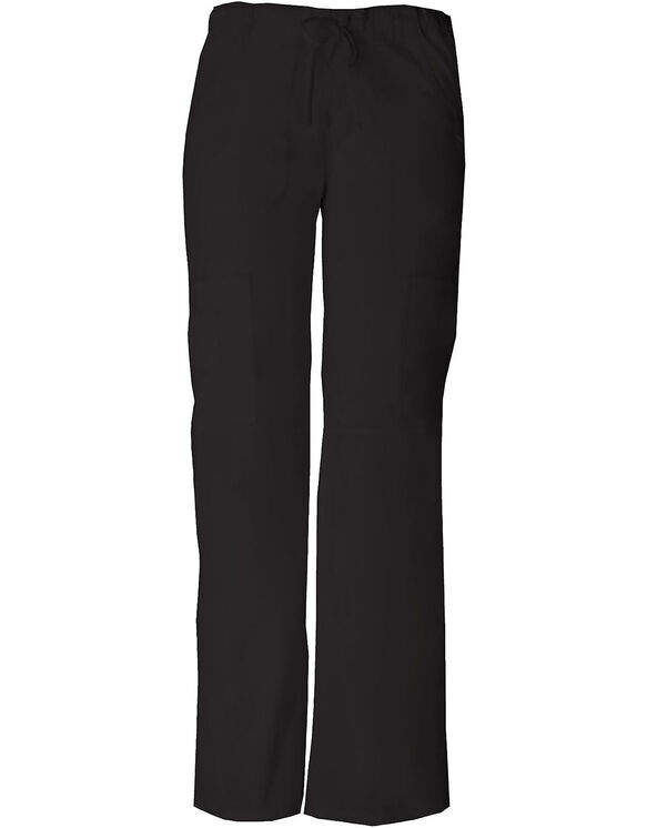 Women's Contemporary Fit EDS Signature Drawstring Cargo Scrub Pant - BLACK-LICENSEE (BLK)