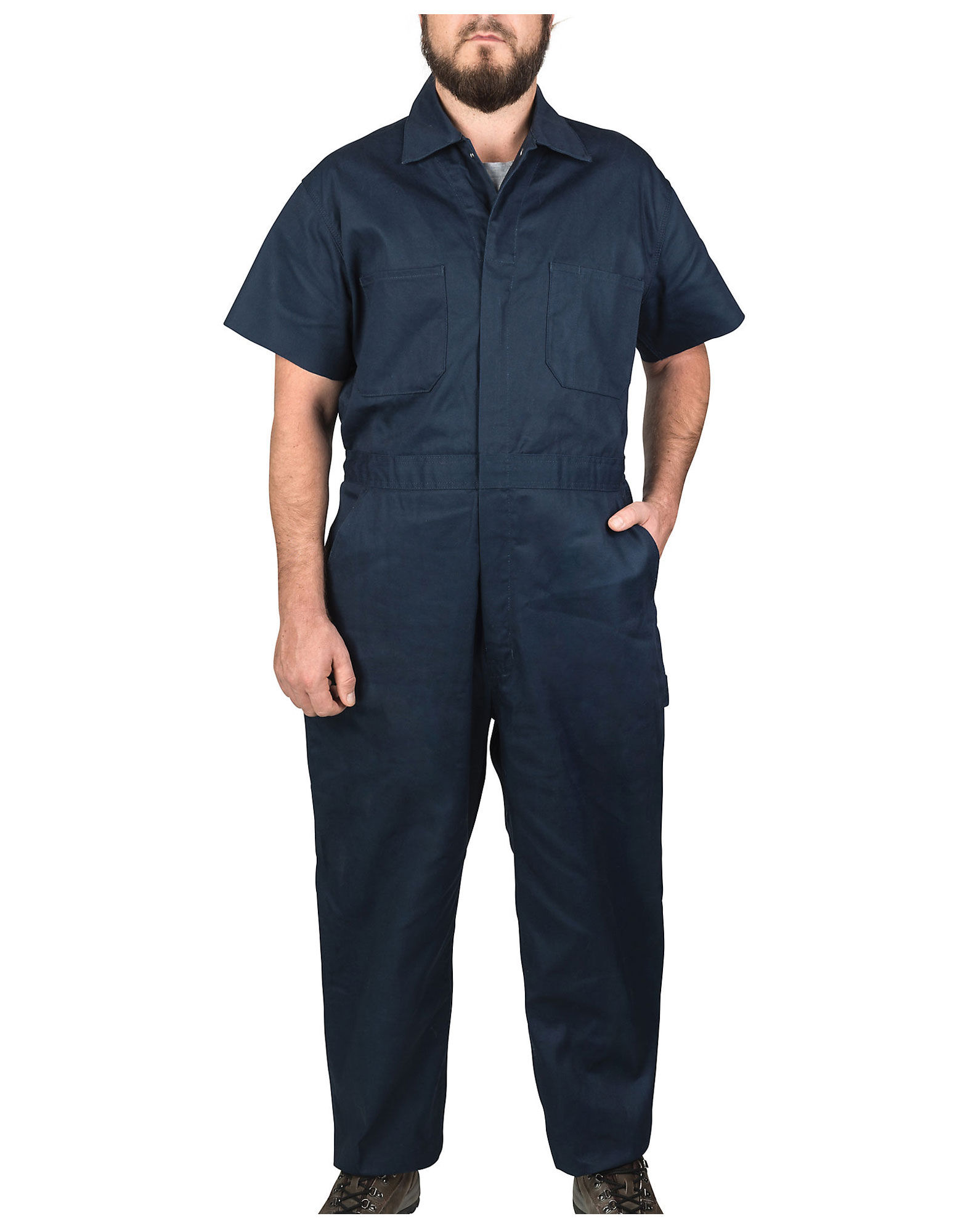 Rated 5 out of 5 by phi2ok from Nice Range of Motion I recently purchased a pair of the new Flex Short Sleeve Coveralls and so far the slight additional 'stretch' is an added plus. This additional 'stretch' provides that little extra room/comfort when reaching and bending/5(45).