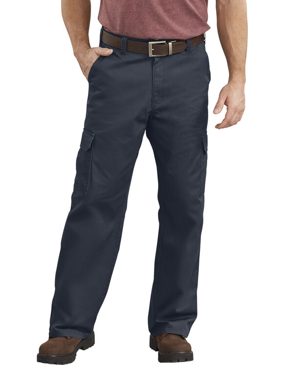 Loose Fit Straight Leg Cargo Pant - RINSED DARK NAVY (RDN)