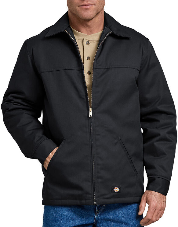 Hip Length Twill Jacket - BLACK (BK)