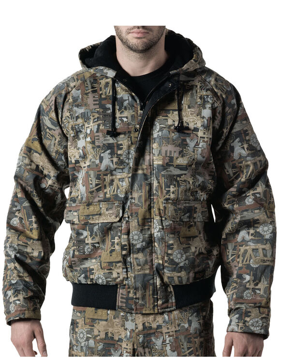 Walls® Oilfield Camo Insulated Hooded Jacket - OIL FIELD (OF9)