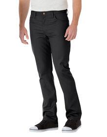 Pantalon de travail ajusté en sergé, cinq poches, jambe droite - Noir (BK)