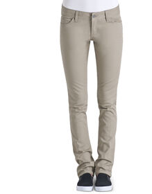 Dickies Girl Juniors Classic Fit Skinny Leg 5-Pocket Pant - KHAKI (KHA)