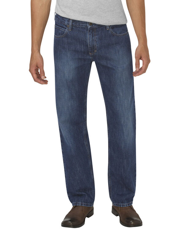 Dickies X-Series Loose Fit Straight Leg 5-Pocket Denim Jean - HERITAGE MEDIUM INDIGO (HMI)