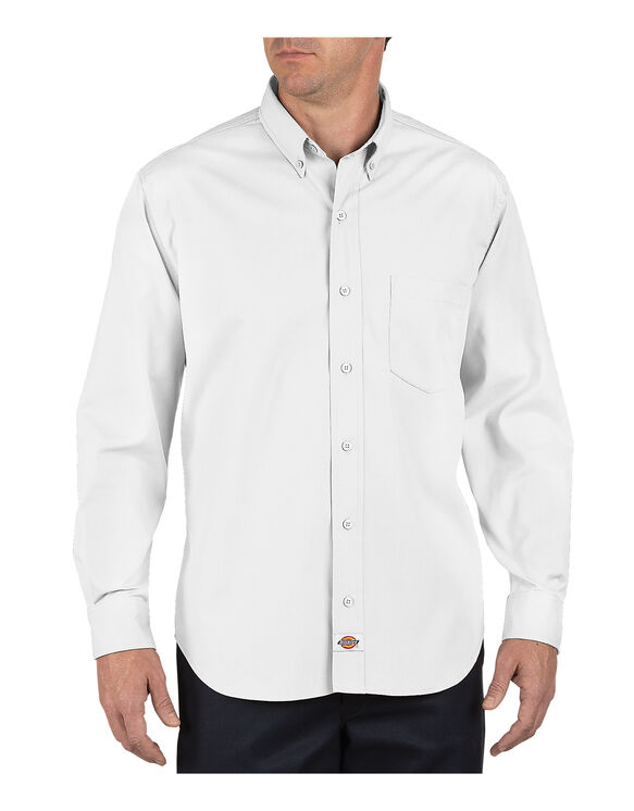 Long Sleeve Industrial Button-Down Poplin Shirt