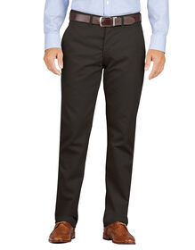 Dickies KHAKI Slim Fit Tapered Leg Flat Front Pant - RINSED BLACK (RBK)