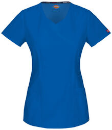 Women's EDS Signature Mock Wrap Scrub Top with Certainty® - ROYAL BLUE (RB)