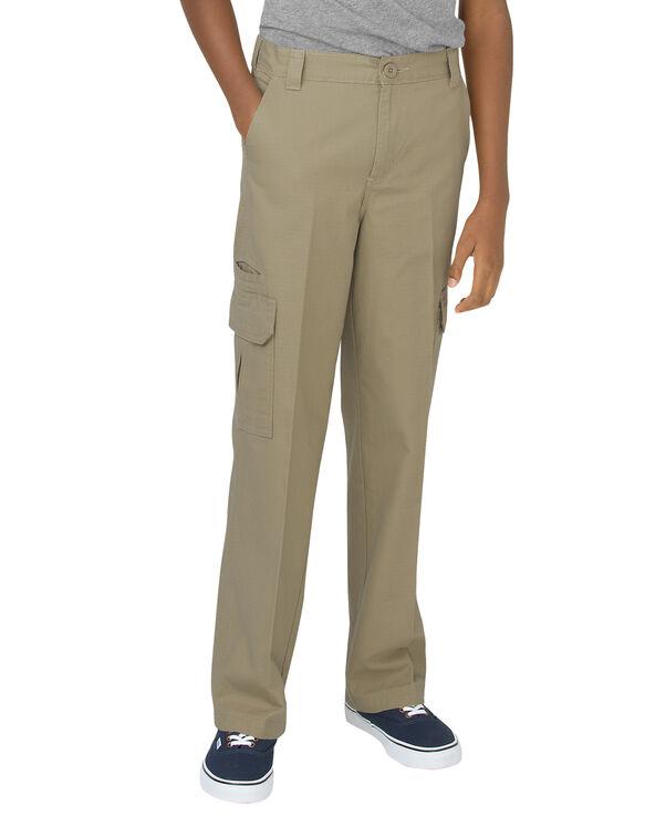 Boys' FlexWaist® Relaxed Fit Straight Leg Ripstop Cargo Pant, 4-7 - RINSED DESERT SAND (RDS)