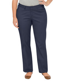 Women's Premium Curvy Fit Straight Leg Flat Front Pant (Plus) - DARK NAVY (DN)