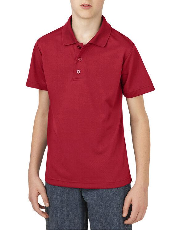 Boys' Performance Short Sleeve Polo, 4-7 - ENGLISH RED (ER)