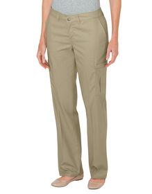 Women's Premium Relaxed Straight Cargo Pant - DESERT SAND (DS)