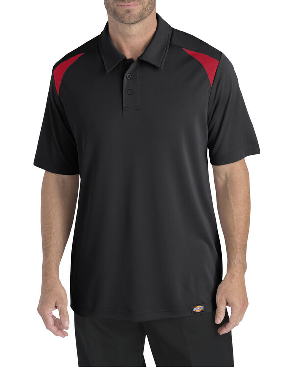 Short Sleeve Performance Polo - BLACK/ENGLISH RED (BKER)