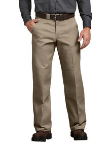 Relaxed Fit Straight Leg Double Knee Pant - DESERT SAND (DS)