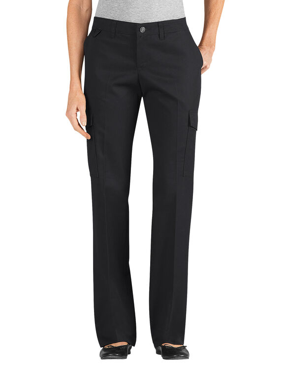 Women's Relaxed Straight Server Cargo Pant - BLACK (BK)
