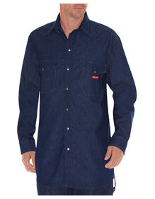 Flame-Resistant Long Sleeve Denim Snap Front Shirt