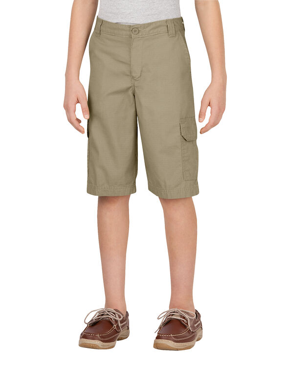 Boys' Relaxed Fit FlexWaist® Ripstop Cargo Short, 4-7 - RINSED DESERT SAND (RDS)