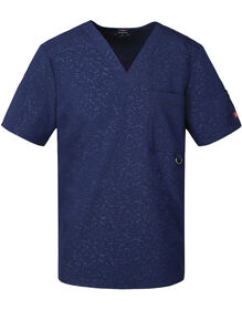 Men's Xtreme Stretch V-Neck Scrub Top - CAMO-KAZEE NAVY-LICENSEE (CANY)