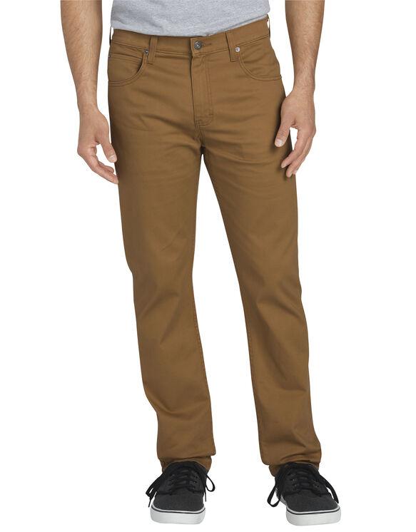 FLEX Slim Fit Tapered Leg 5-Pocket Pant - RINSED BROWN DUCK (RBD)