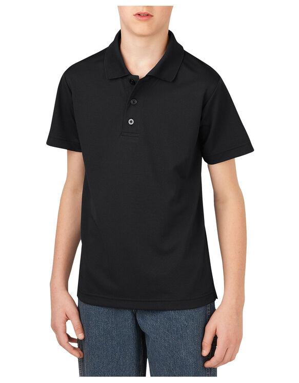 Boys' Performance Short Sleeve Polo, 8-20 - BLACK (BK)