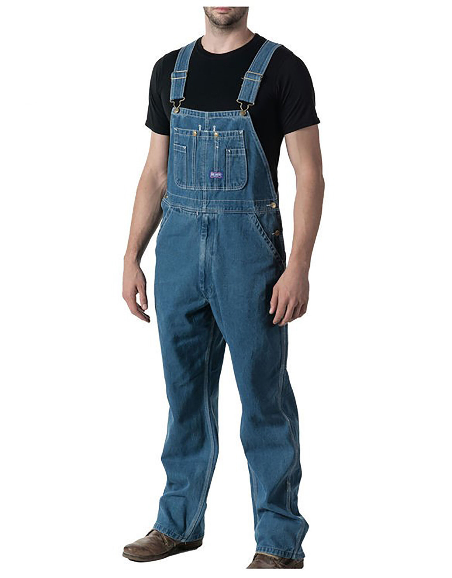 Rather than run the risk of ruining your favorite pair of jeans, slip on a pair of men's overalls before you head to work. Sears' selection includes traditional denim with triple stitching for added durability as well as white painter's bib overalls.