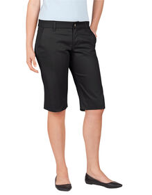 Dickies Girl Juniors Bull 4-Pocket Short - BLACK-LICENSEE (BLK)