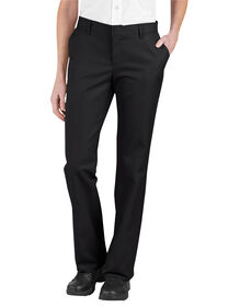 Women's Relaxed Fit Flat Front Pant - BLACK (BK)