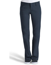Dickies Girl Juniors College 4-Pocket Boot Cut Pant - NAVY (NVY)