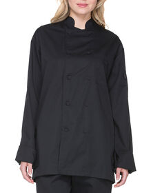 Unisex Cool Breeze Long Sleeve Chef Coat - BLACK (BLK)
