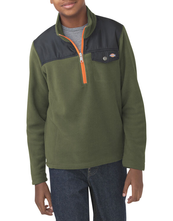 Boys' Quarter Zip Performance Fleece, 8-20 - CHIVE (HV)