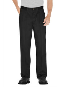 Premium Cotton Pleated Front Pant - BLACK (BK)
