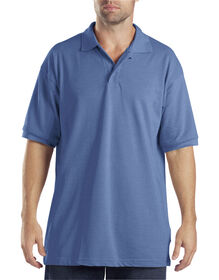Adult Sized Short Sleeve Pique Polo Shirt - LIGHT BLUE (LB)