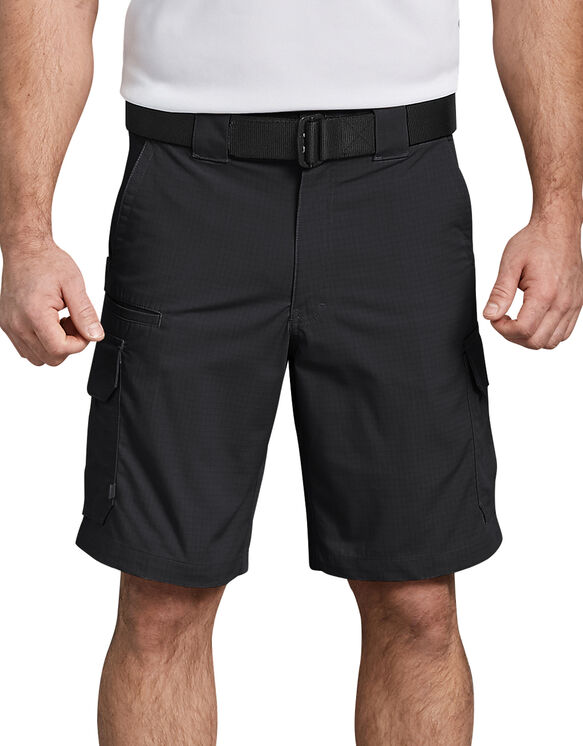 "Tactical 10"" Relaxed Fit Stretch Ripstop Cargo Short - BLACK (BK)"