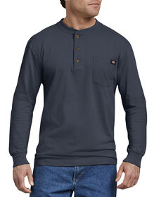 Long Sleeve Heavyweight Henley - DARK NAVY (DN)
