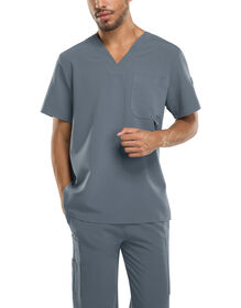 Men's Xtreme Stretch V-Neck Scrub Top - PEWTER (PEW)