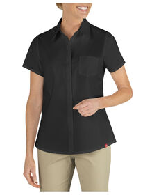 Women's Short Sleeve Stretch Shirt - BLACK (BK)