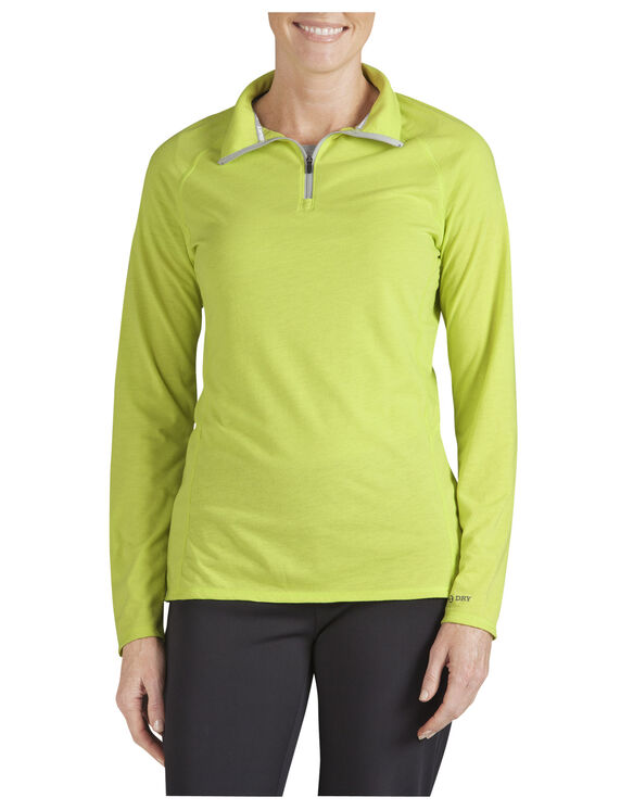 Women's Performance Quarter Zip drirelease® Pullover - WILD LIME (WL)