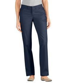 Women's Premium Curvy Straight Flat Front Pant - DARK NAVY (DN)