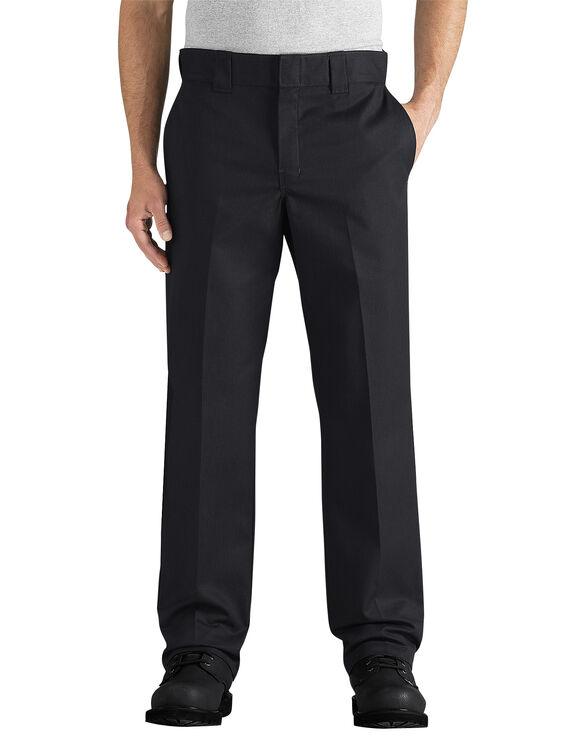 Flex Slim Fit Straight Leg Twill Work Pant - BLACK (BK)