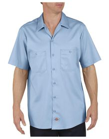 Industrial Cotton Short Sleeve Work Shirt - LIGHT BLUE DOW (LW)