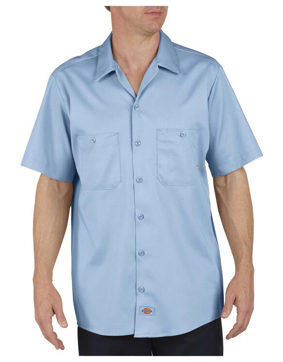 short sleeve industrial cotton work shirt mens shirts. Black Bedroom Furniture Sets. Home Design Ideas