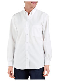 Women's Button-Down Oxford Shirt - Long Sleeve - WHITE (WH)
