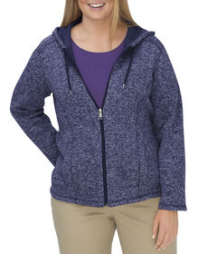 Women's Sweater Hooded Jacket (Plus) - BLUE VIOLET/BLACK IRIS (VEI)